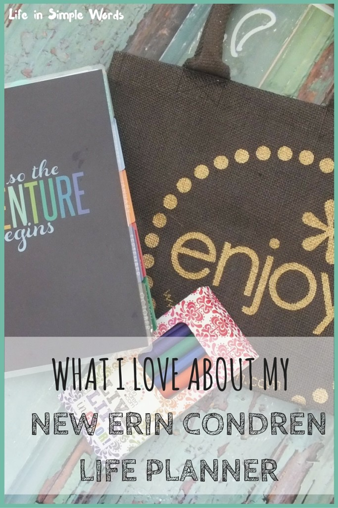 I got a new Erin Condren Life Planner for my birthday, so the first thing to do of course, is to take pictures and write about it!