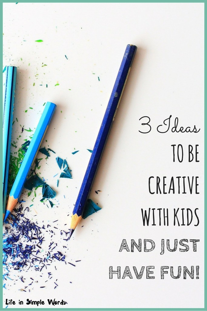 Sometimes you run out of ideas of what to do with the kids, it doesn't have to be complicated, you can find simple activities to have fun with them!